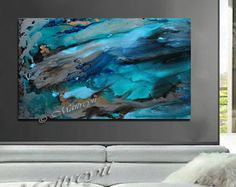 Painting Abstract Art California Beach Oil by largeartwork on Etsy