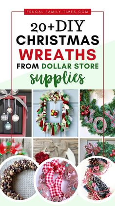 Christmas on a budget - Dollar Store Christmas Wreaths can be beautiful! These gorgeous DIY Christmas wreath supplies were all from the dollar store! Festive and fabulous dollar store Christmas decor ideas - give you Xmas decor on a budget. So smart! Dollar Store Christmas, Christmas On A Budget, Christmas Decorations For The Home, Diy Christmas Tree, Dollar Store Crafts, Dollar Stores, Dollar Dollar, Christmas Ideas, Christmas Ornaments