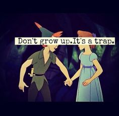 Peter Pan--fav Disney movie. I'm so glad that I still live fully in my inner child. What can I say? It runs in the family!