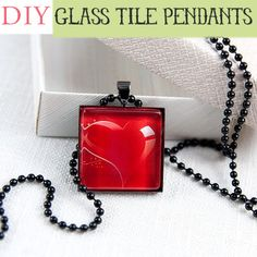 I want one! DIY Glass Tile Pendants from @Johnnie (Saved By Love Creations) Lanier. Great tutorial.