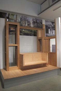 Louis Kahn, Fisher House (1960-67) part full scale model - living room window seat