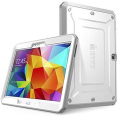 Samsung Galaxy Tab 4 10.1 Case, SUPCASE [Heavy Duty] Case for Galaxy Tab 4 10.1 Tablet [Unicorn Beetle PRO Series] Full-body Rugged Hybrid Protective Cover with Built-in Screen Protector (White/Gray), Dual Layer Design + Impact Resistant Bumper
