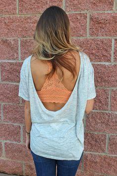 Weekend Vibes open back t-shirt