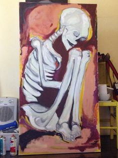 Tela 80x150 Tinta acrílica  Grafite Eu Arteando
