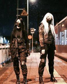 Egirl Fashion, Korean Girl Fashion, Japan Fashion, Dark Fashion, Fashion Outfits, Grunge Outfits, Edgy Outfits, Cool Outfits, Cyberpunk Mode