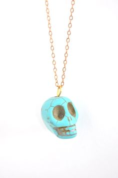 tiny turquoise skull