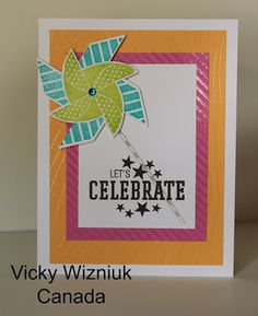 card by Vicky Wizniuk using CTMH Dream Pop paper