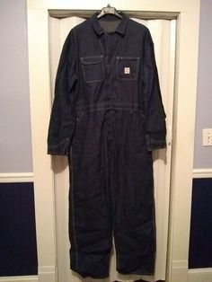 1184766667a0 Vtg Pointer Denim Blue Jean Mechanic Jumpsuit Coveralls Mens SZ 56 x 34  NWOT  Pointer