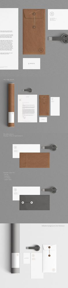 A stationery mock up with kraft paper and very high details. Each object and shadow are separated. The background texture is editable via a smart object. Also by using smart-object you can change quickly the design content.