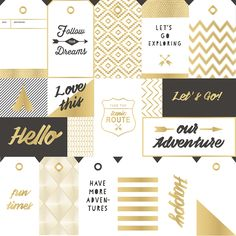 New collection from Crate Paper called 'Journey'. This paper is a speciality one with gold foil detail. www.american crafts.com