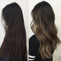Ombre highlights - dark hair