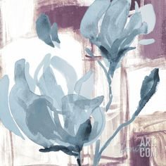 Blue Magnolias I Art Print by Lanie Loreth at Art.com