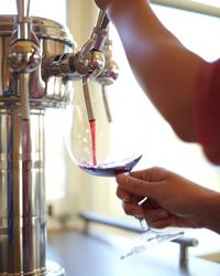 Wines on tap.  I want one in my kitchen!!!  I've been called a lush so might has well live up to it!!!!