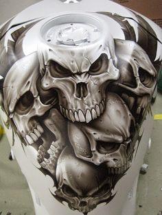 Cool Skulls Motorcycle Tank