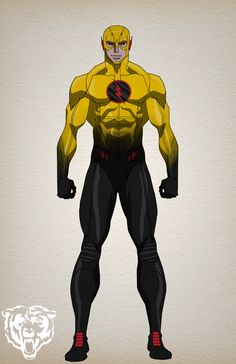 the cw reverse flash animated  character design by bigoso91
