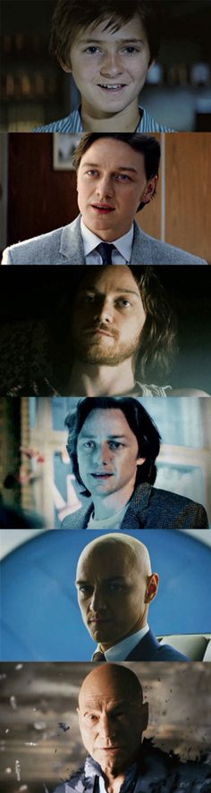 The evolution of Charles Xavier.