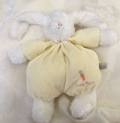 "13"" Bunnies by the Bay Bunny Rabbit Sweet Buns Yellow White Lovey Plush Carrot  