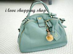 Lightblue Leather Tote/ Shopping Bag/ iPad Bag/ by LIANGJENYSTUDIO, $79.00