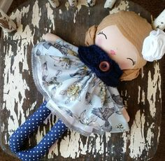 Vintage Inspired Rag Doll, SpunCandy Handmade Doll, Heirloom Quality Dolls, Bespoken Dolls, Custom Dolls, LollyPoppet Dolls by SpunCandy