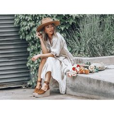 The Adalyn's leather and suede mixed media lends a luxe touch to these retro-inspired espadrille wedge sandals. Wedge Sandals, Espadrilles, Hipster, Footwear, Wedges, Comfy, Forget, Magic, App