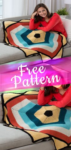 To the Point Throw [CROCHET FREE PATTERN] #crochetfreepattern #freecrochet #crochet2 #pattern #jobcrochet #croche #howtocroche