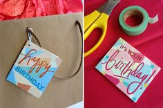 printable birthday card tag #downloads
