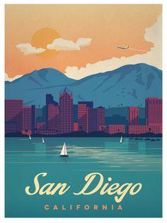 Vintage San Diego Poster