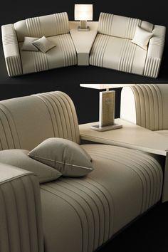 Sofa Rugiano Cadillac 3D model | CGTrader Elegant Living Room, Small Living Rooms, Living Room Sofa, Bedroom Furniture Design, Furniture Upholstery, Luxury Furniture, Sofa Set Designs, Sofa Design, Elegant Sofa