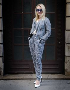 What the Editor Wears. DKNY jacket, Vanessa Bruno blouse, Topshop trousers, JW Anderson shoes. www.elleuk.com