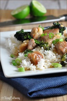 Sticky Lime and Ginger Chicken Stir Fry