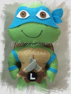 Tartarugas ninjas em feltro. Leonardo