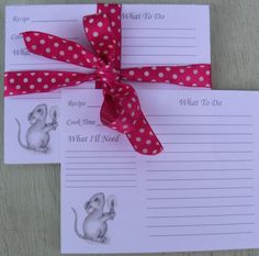 Recipe cards baking recipe cards cooking recipe cards baby recipe cards mouse recipe card set christmas recipe cards holiday recipe card forumfinder Choice Image