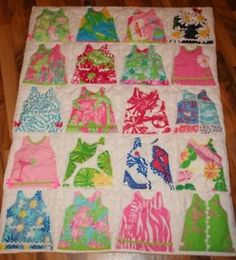 cute baby shower gift idea! blanket with little lilly Pulitzer shift  dresses!