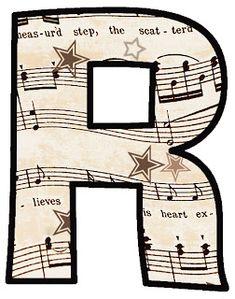 ArtbyJean - Vintage Sheet Music: Alphabet Sets