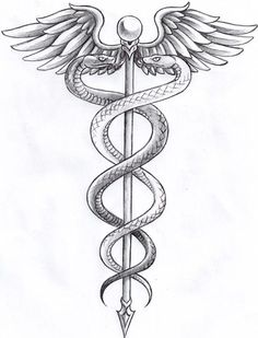caduceus tattoo - Google Search