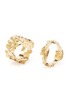 Cutout Leaf Ring Set - Jewellery - 1000164932 - Forever 21 EU English