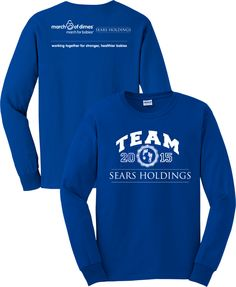 2015 March of Dimes Sears Holding Long Sleeve Tees « March of Dimes – EA Graphics
