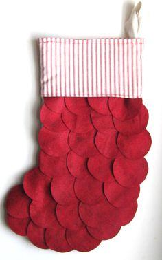 layered stocking? felt? fleece?