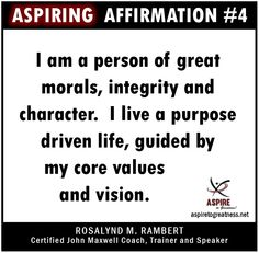 If you do not affirm who you are, someone else will.  Let's ASPIRE TO GREATNESS together at https://www.facebook.com/aspiretogreatness