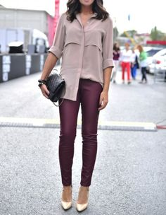 Unique Looks of Burgundy leather 40 Outfits 0001