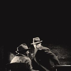 Dean in his 1940s clothes punching someone. *double sigh*