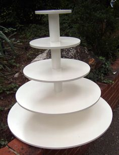 Extra Large 5 Tier Round Custom Made Cupcake Stand with Pearl Finish