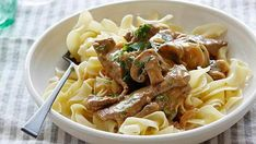 Find all the best Beef Stroganoff Over Buttered Noodles recipes on Food Network. We've got more beef stroganoff over buttered noodles dishes, recipes and ideas than you can dream of! Best Beef Stroganoff, Stroganoff Recipe, Chicken Stroganoff, Mushroom Stroganoff, Paula Deen Beef Stroganoff, Beef Dishes, Pasta Dishes, Beef Recipes, Cooking Recipes