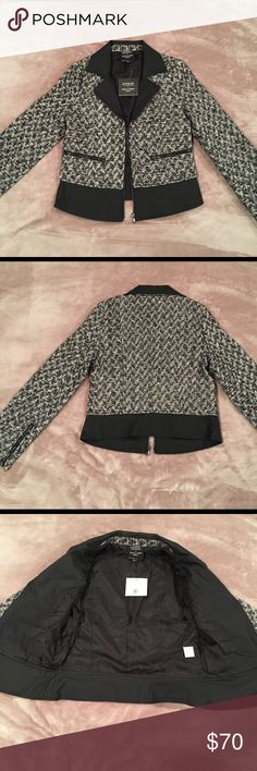 Romeo & Juliet Couture Gossip Girl Tweet Jacket S This is beautiful Romeo & Juliet Couture Gossip Girl Tweet Jacket. Brand New with Tags! Perfect for fall or winter! 🎀 Size : small . Color: Black, White and Silver. 🚫no trades Gossip Girl Jackets & Coats