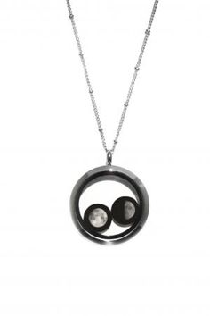 What was your BIRTH Moon? Both charms feature the phase of the moon on the night you were born or any day you wish to remember. Do you and your soulmate make a full moon? The Lovers In a Locket Moonglow Necklace will glow in the dark   #Moonglow