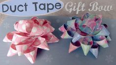 My newest holiday duct tape tutorial. Learn how to make this DIY duct tape gift bow on the SoCraftastic YouTube channel. These bows are great for decorating Christmas & Birthday presents.