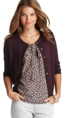 This looks like something I would wear, but I tend to like longer sweaters and open cardigans. Love the colors though