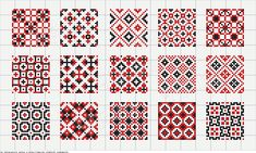 patterns for 25x25 squares; cross stitch chart