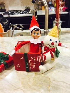 Mr. Bingle meets Elf on the Shelf!