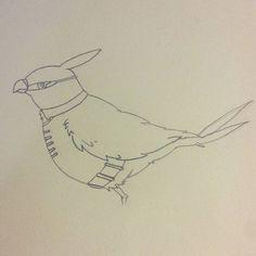 Talonflame as Robin!!! #batman #pokemon #robin #sidekick #bird #fanart #characterdesign #character #cartoon #sketch #sketchbook #doodle #draw #art #illustration #talonflame #nintendo #nintendo3ds #anime #manga #dccomics #dc #videogame #tv #drawing